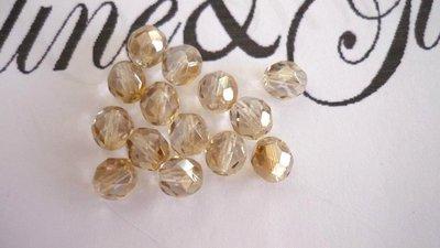 50 Cristalli Preciosa Round Fumo Oro