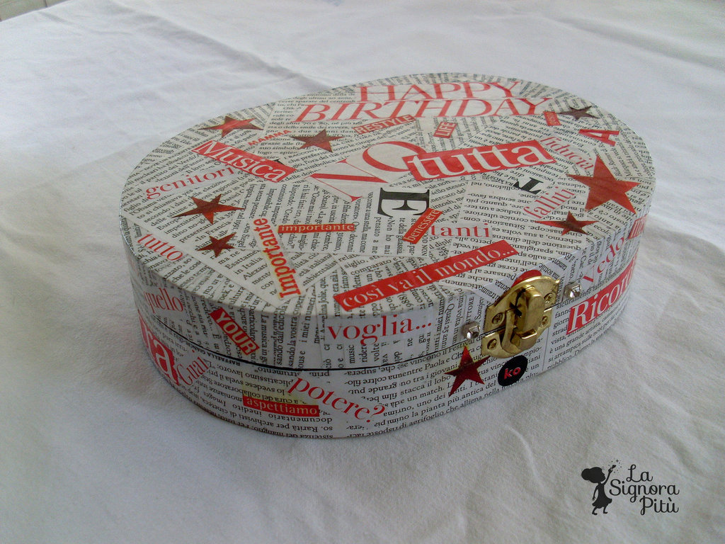 Scatola Portagioie Decoupage Pop-Art