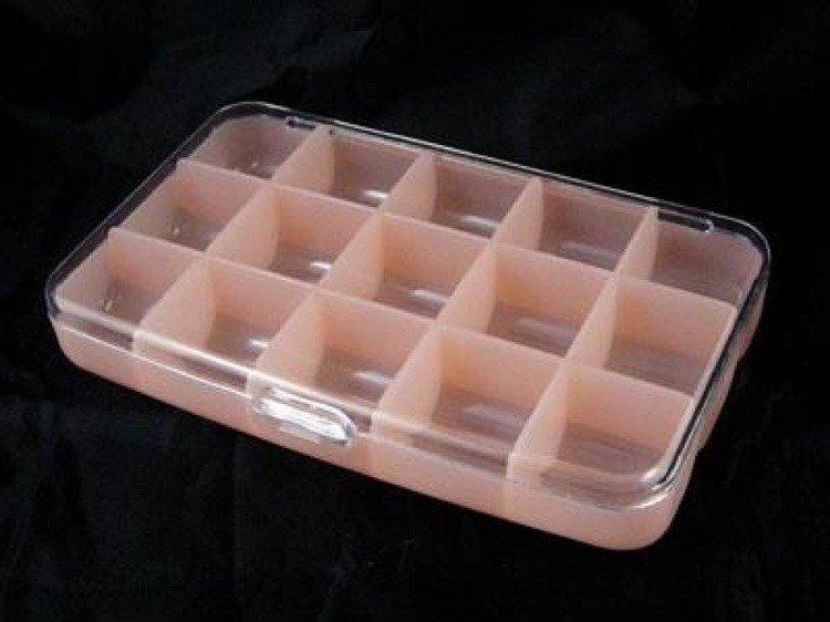 Contenitore per perline/materiali in plastica dura, color rosa