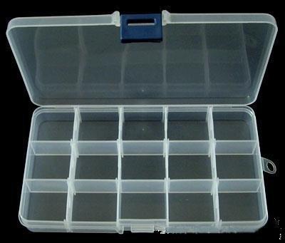 Box contenitore per perline,scomparti removibili