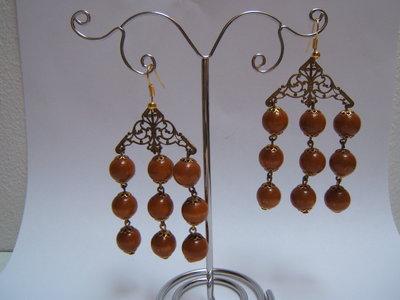 orecchini metallo dorato antichizzato