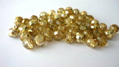 50 Cristalli Preciosa Round 1/2 Oro