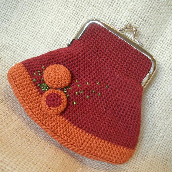 Portamonete arancio/rosso indio