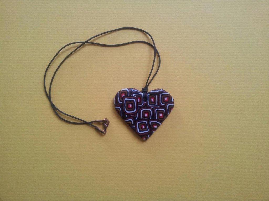 Collana cuore murrina etnico