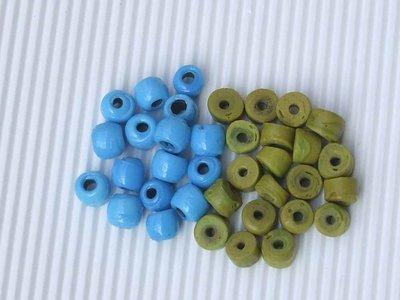 30 perle a rondella in pasta vitrea vend.