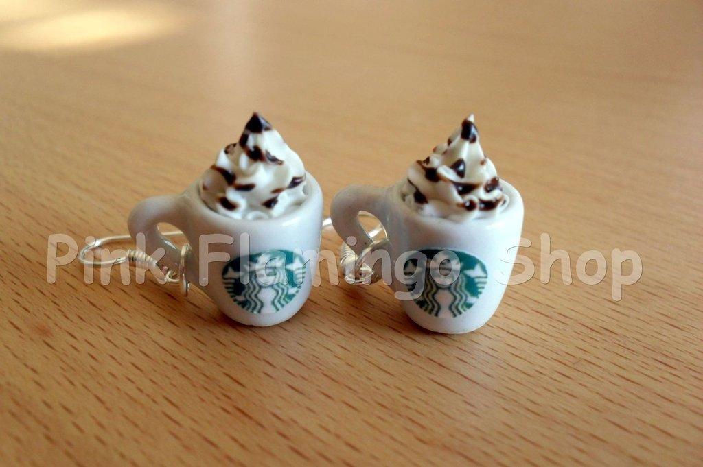 Frappuccino Starbucks - orecchini pendenti