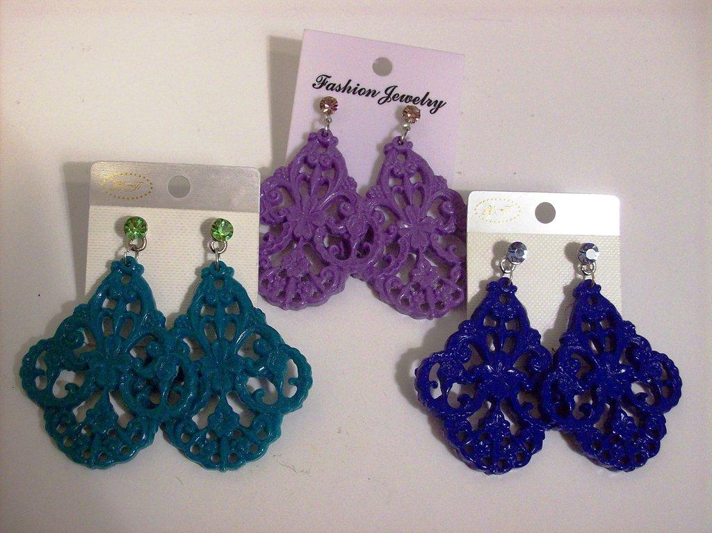 orecchini resina stile vintage viola verde e blu con punto luce scegliete il vostro!