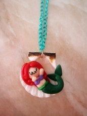 Collana fimo Ariel su conchiglia