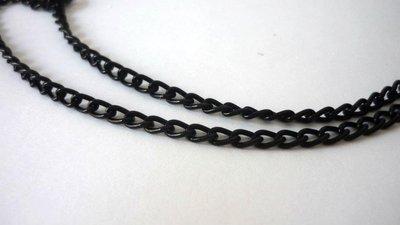 Catena in alluminio Aluminum Chain, Black, link 3,6 x 6 mm.  1,90 euro/metro