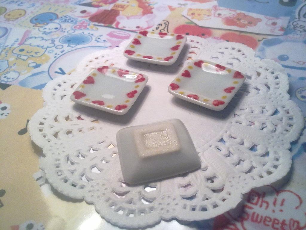 Piatti quadrati in ceramica bianca