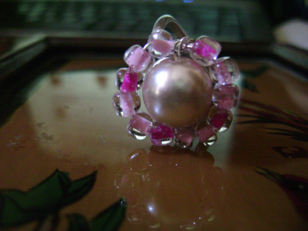 """Anello """"fiore rosa"""""""
