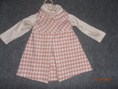 Vestina in lana/cachemire con lupetto 12 mesi---wool and cachemire girl dress 12 months