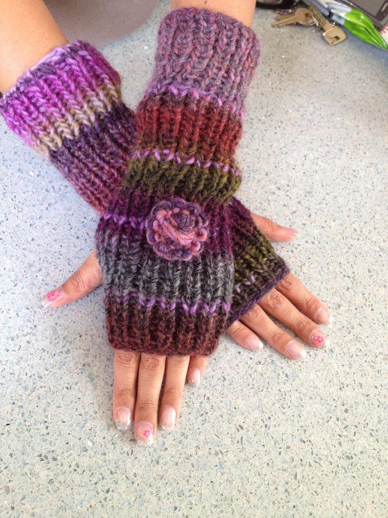 Guanti in lana fatti a mano