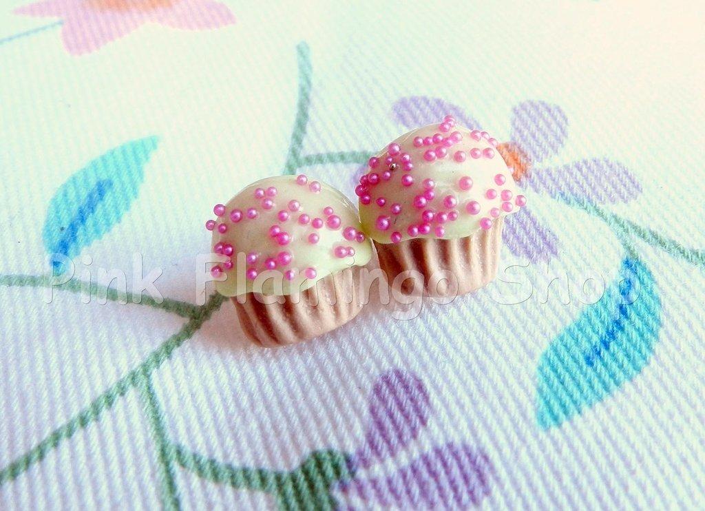 Orecchini cupcake a lobo in Fimo 3