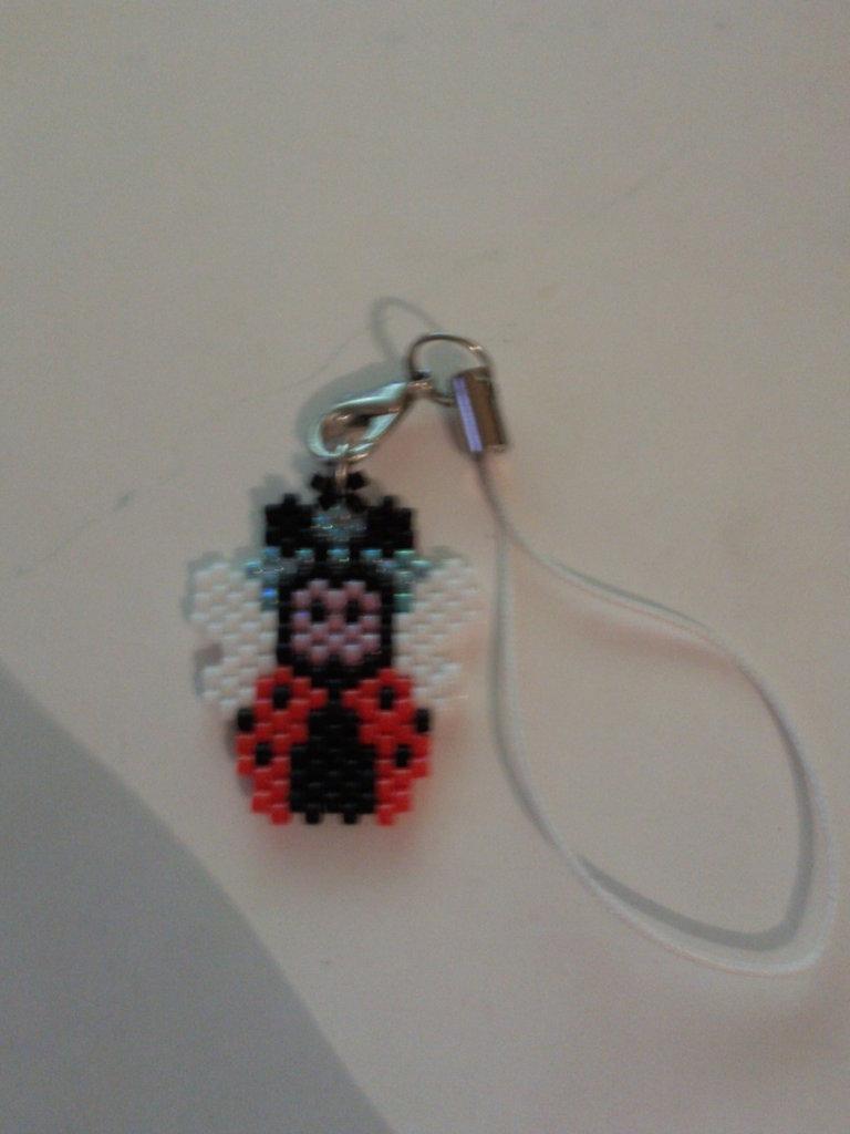 Phone strap coccinella