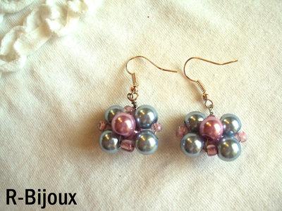 Orecchini wire e perle - romantic