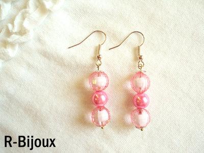Orecchini perline - rosa romantic