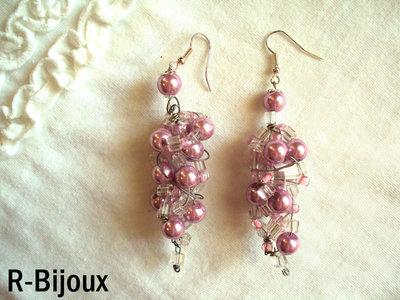 Orecchini wire e perle - grappolo