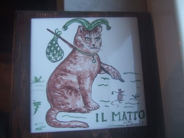 PIASTRELLA CERAMICA ITALIAN CERAMIC GATTO
