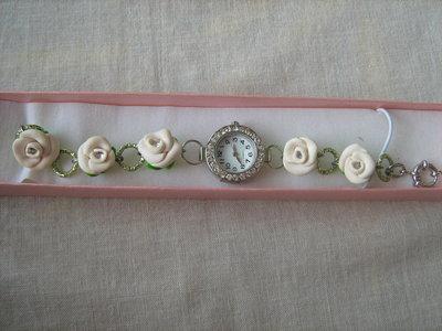 orologio con rose e strass