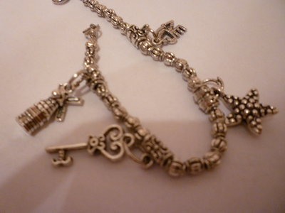 bracciale argento e charms