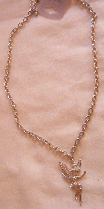 collana con catena e ciondolo [ fatina ]