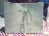 Bolsa de papel reciclado artesanal