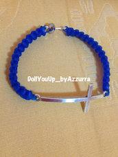 bracciale croce di traverso --- sideways cross bracelet