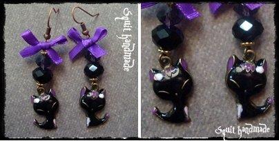 ORECCHINI FASHION BLACK CAT