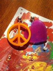 orecchini peace & love
