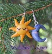Orecchini Sole Luna - Moon Sun Earrings