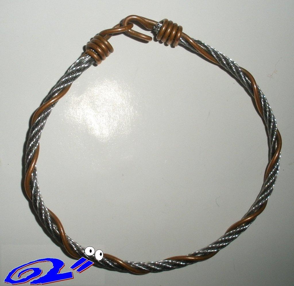 "braccialetto rame e acciaio ""ramac"""