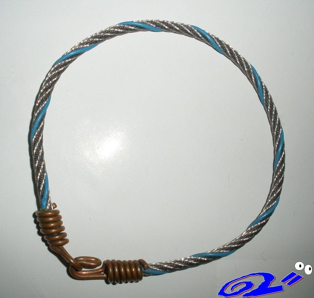 braccialetto in acciaio e rame