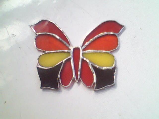 Mariposa en vitreaux
