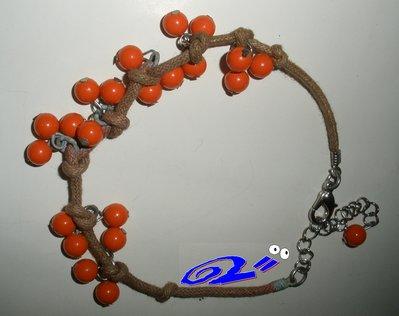 braccialeto grappoli arancioni
