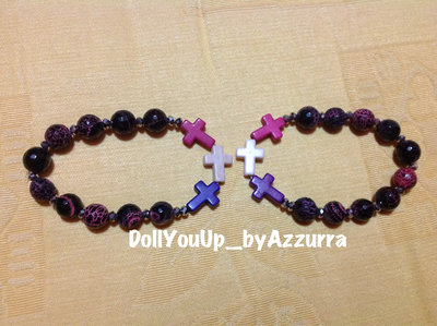 bracciale croci colorati --- colored cross bracelet