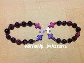 bracciale croci colorati --- colored cross bracelet
