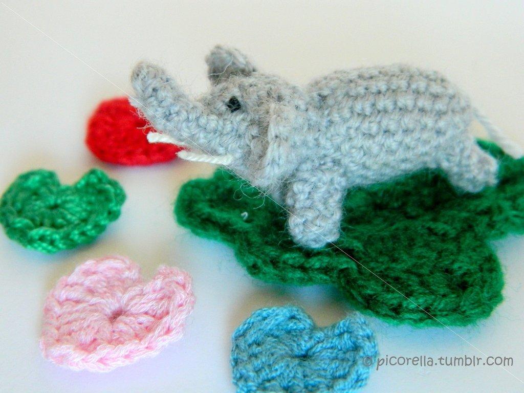Uncinetto Amigurumi Elefante : MissHobby: compra e vendi prodotti unici fatti a mano e ...