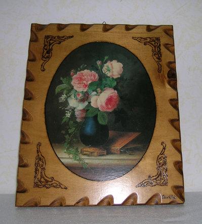 Vaso fiori + cornici