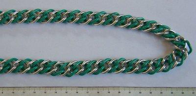collana con catena a 2 colori