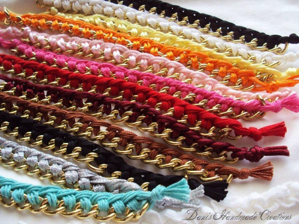 Bracciali catena e filo