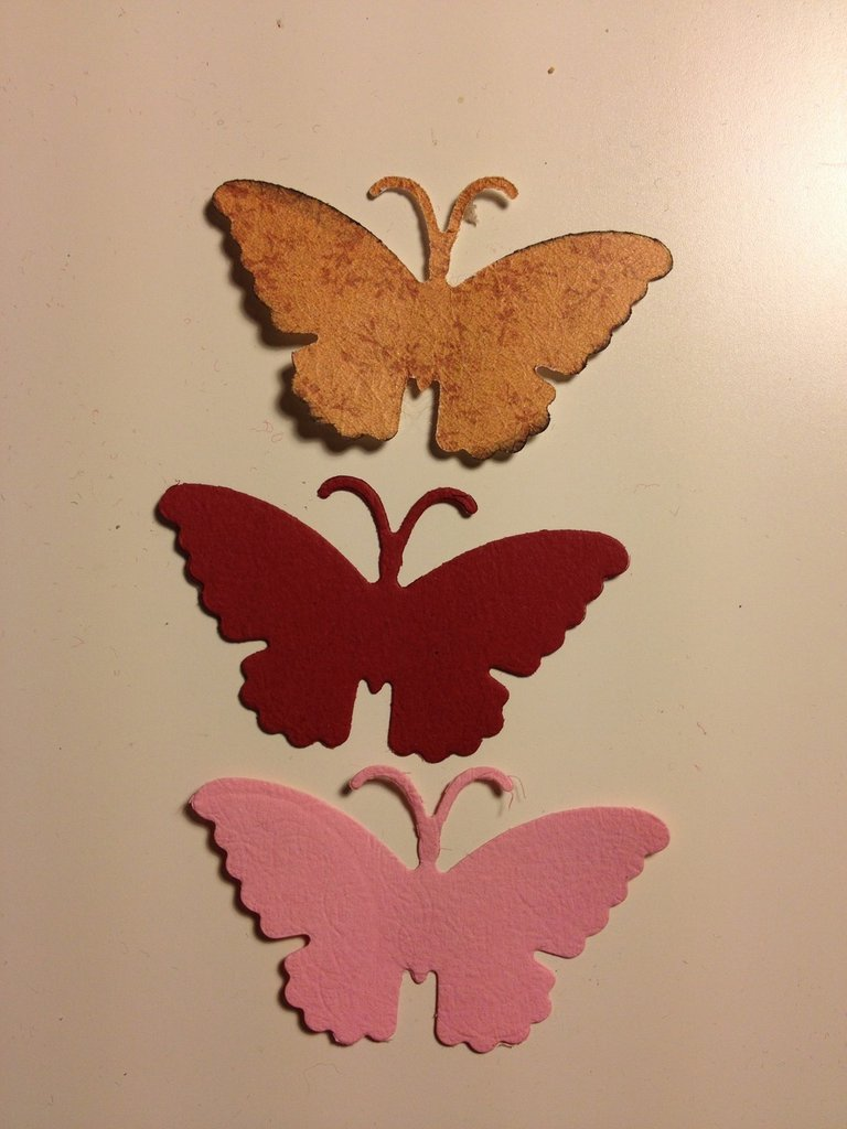 fustellati in cartoncino  modello farfalle