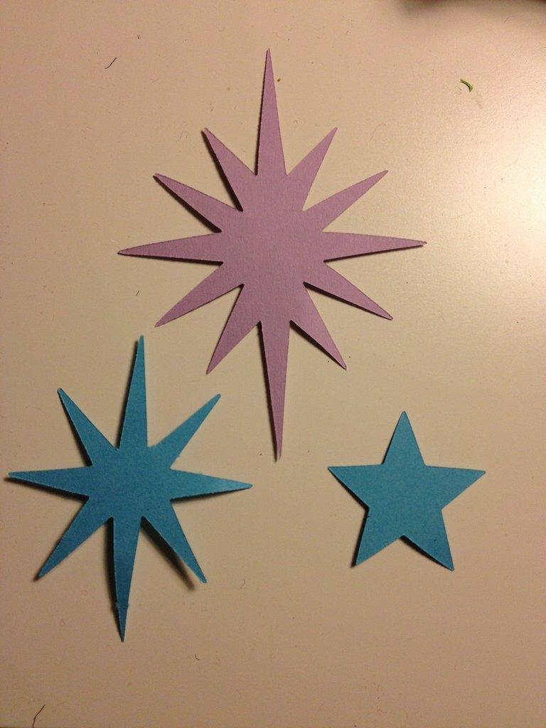 fustellati in cartoncino o feltro modello stelle