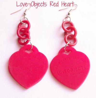 Orecchini gomma love object  cuore vari colori