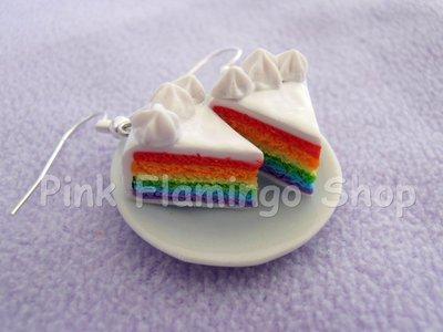 Rainbow cake - orecchini in Fimo
