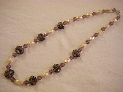 collana con vetro di murano ,vetro e mezzo cristallo
