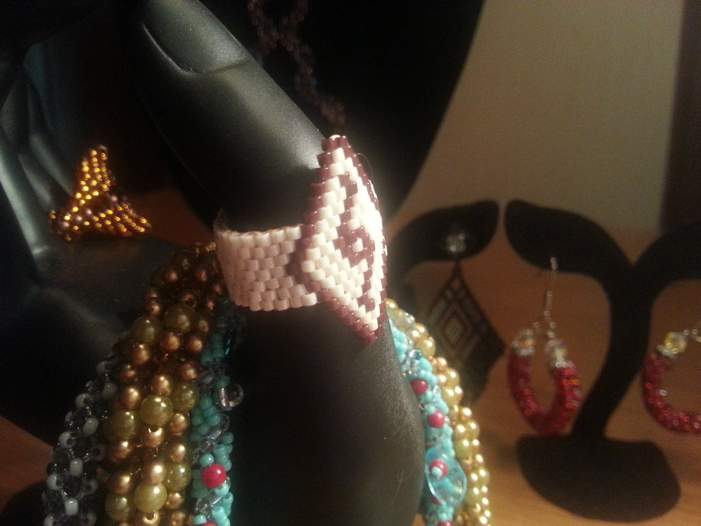 Anello fascetta in tessitura