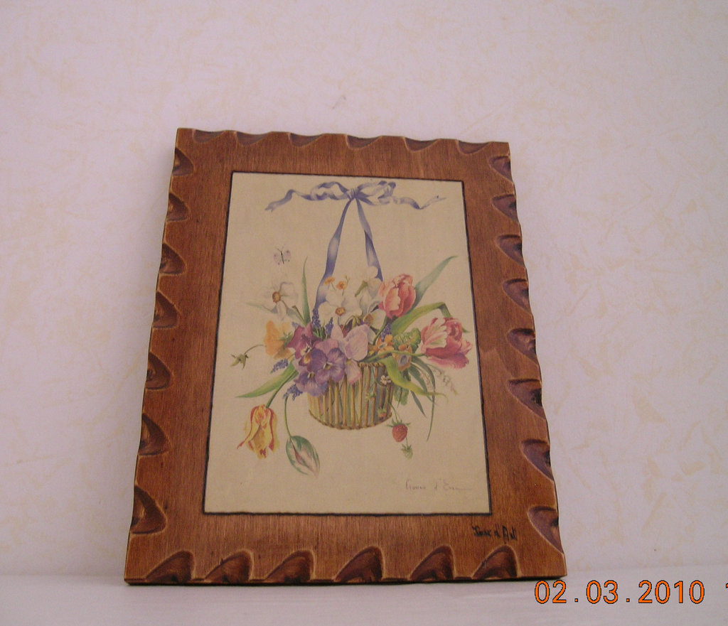 vaso fiori con fiocchetto