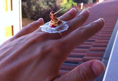 Miniature Food - ANELLO SPAGHETTI AL POMODORO