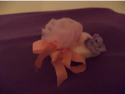 saponetta con fiocco rosa